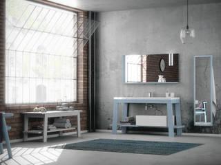 krayms A&D - Fa&Fra BathroomStorage Solid Wood Blue