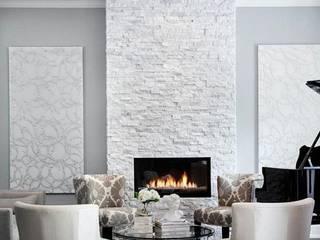 Doğal Taş İç Cephe Uygulamaları Modern Duvar & Zemin Markatas Modern