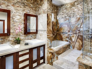 Markatas – Doğal Taş İç Cephe Uygulamaları:  tarz Banyo