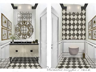 Гостевой сан узел.: Ванные комнаты в . Автор – Геометрия Вкуса