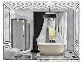 Ванная комната, 1 этаж: Ванные комнаты в . Автор – Геометрия Вкуса