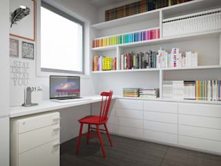 Modern Study Room and Home Office by Vítor Leal Barros Architecture Modern