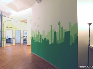 edle wandmalerei:  Geschäftsräume & Stores von  Wandgestaltung Graffiti Airbrush von Appolloart