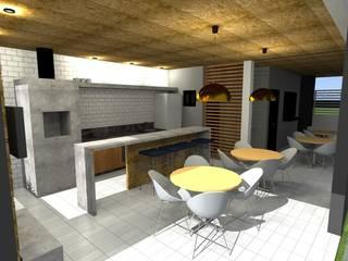 Churrasqueira H&J Cozinhas minimalistas por paulo henrique ribeiro arquitetura Minimalista