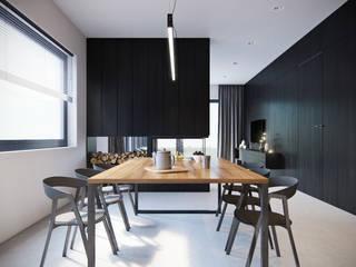 Dom pod Warszawą: styl , w kategorii Jadalnia zaprojektowany przez 3XEL Biuro projektowe