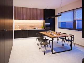 Dom pod Warszawą Nowoczesna kuchnia od 3XEL Biuro projektowe Nowoczesny