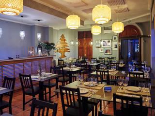 Restaurante Libanes Espacios comerciales de estilo asiático de YAIZA CARRASCO INTERIOR DESING Asiático