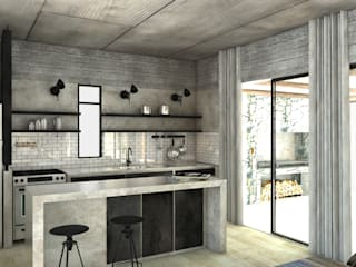 CASA ES COCINA FAARQ - Facundo Arana Arquitecto & asoc. Cocinas de estilo moderno