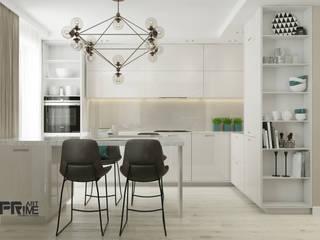 Квартира-студия в современном стиле. Бюджетный вариант! Кухня в стиле минимализм от 'PRimeART' Минимализм