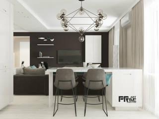 Квартира-студия в современном стиле. Бюджетный вариант! Столовая комната в стиле минимализм от 'PRimeART' Минимализм