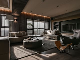 Livings de estilo  por CJ INTERIOR 長景國際設計