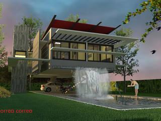 Vivienda suspendida: Casas de estilo  por Arq. Jose F. Correa Correa