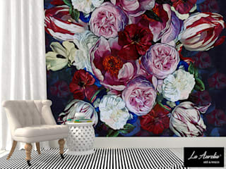Secret Garden Wallpaper Collection by La Aurelia Art & Walls La Aurelia Parede e pavimentoPapel de parede Multi colorido