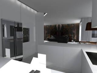 PROJEKT DOMU W GDAŃSKU: styl , w kategorii Kuchnia zaprojektowany przez apcube