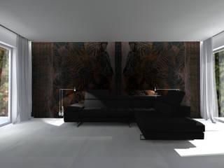 PROJEKT DOMU W GDAŃSKU: styl , w kategorii Salon zaprojektowany przez apcube