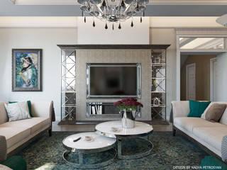 Классическая гостиная с изумрудными акцентами Гостиная в классическом стиле от Capital Interior Классический