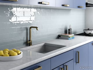 Equipe Ceramicas Modern kitchen Ceramic Blue