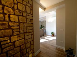 yesHome Mediterranean style corridor, hallway and stairs
