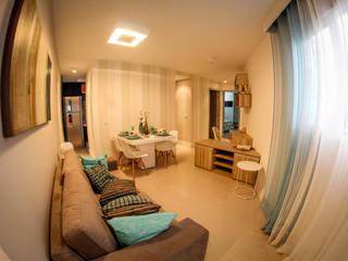 Salas / recibidores de estilo  por Concept Engenharia + Design,