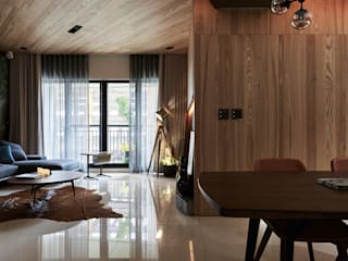 The Metaphor of Residence DYD INTERIOR大漾帝國際室內裝修有限公司 Modern Living Room
