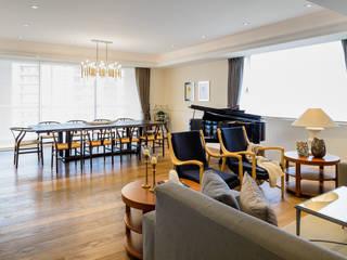 NIVEL TRES ARQUITECTURA Scandinavian style living room