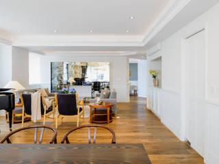 NIVEL TRES ARQUITECTURA Scandinavian style dining room