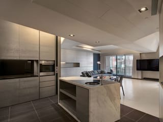 The New Quintessential 現代廚房設計點子、靈感&圖片 根據 Taipei Base Design Center 現代風