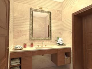 Planet G Modern style bathrooms Marble Beige