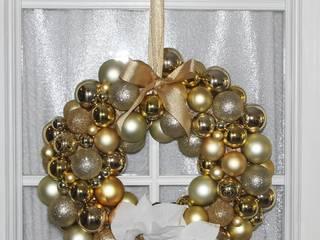 Weihnachtstürkranz gold:   von GP METALLUM