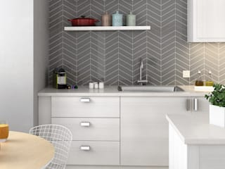 Equipe Ceramicas Modern kitchen Ceramic Grey