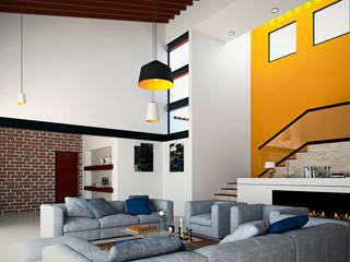 Salon de style  par Laboratorio Mexicano de Arquitectura,