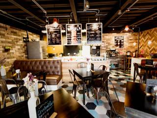 Delimitación de área de preparación de alimentos: Comedores de estilo  por Ariadna Argüelles Arquitectura