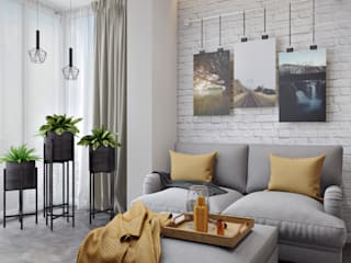 СВЕТЛАНА АГАПОВА ДИЗАЙН ИНТЕРЬЕРА Minimalist living room Grey