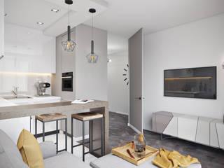 СВЕТЛАНА АГАПОВА ДИЗАЙН ИНТЕРЬЕРА Minimalist kitchen Grey