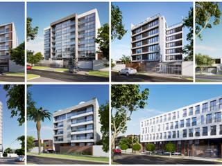 PERSPECTIVAS EXTERIORES: Casas de estilo  por FABRE STUDIO, Moderno