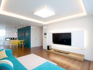 전주인테리어 디자인투플라이 프로젝트 - 전주 효자동 휴먼시아 아이린 아파트: 디자인투플라이의  거실
