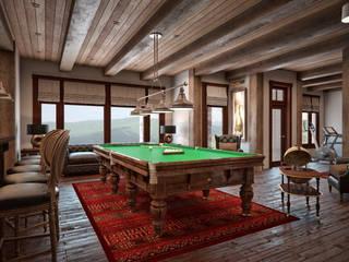 Дом с видом на Кавказские горы: Гостиная в . Автор – Архитектура Интерьера