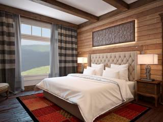 Дом с видом на Кавказские горы: Спальни в . Автор – Архитектура Интерьера