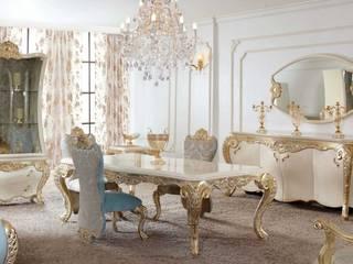 klasik yemek odaları homify Classic style dining room MDF Blue