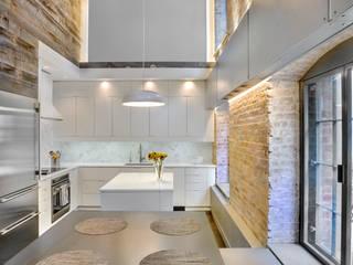 Laight Street Duplex Modern Kitchen by Rodriguez Studio Architecture PC Modern