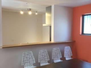 長屋住宅リフォーム モダンデザインの ダイニング の 和建築設計室 モダン