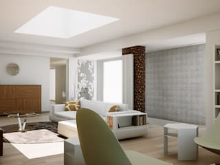 MINIMAL WHITE HOUSE : Soggiorno in stile  di FRANCKSONN HOME srls, Minimalista
