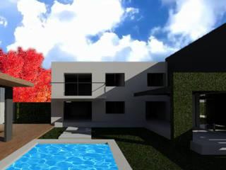 Vivienda en Bº Priv. Jardines del Puente - Guaymallén: Casas de estilo  por CALVENTE - TIÓN Arquitectas