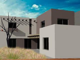 Vivienda en Bº SUPE, Godoy Cruz: Casas de estilo  por CALVENTE - TIÓN Arquitectas