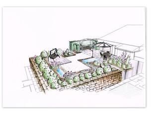New design for a private garden by Sabine Friedrich gartenplanung & design