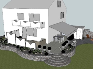 New design for a terrace and its surrounding by Sabine Friedrich gartenplanung & design
