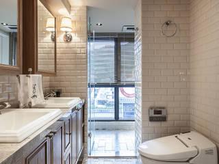 大晴設計 - 微莊園:  浴室 by 大晴設計有限公司