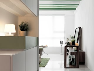 Corredores, halls e escadas minimalistas por 大晴設計有限公司 Minimalista