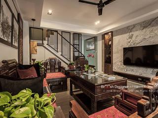 大不列顛空間感室內裝修設計 Asiatische Wohnzimmer