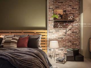 輕工業風-臥室 大不列顛空間感室內裝修設計 Asian style bedroom